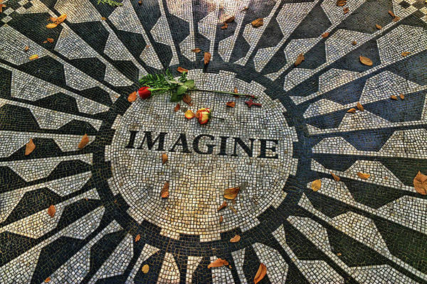 Wall Art - Photograph - Imagine - A Tribute To John Lennon by Allen Beatty