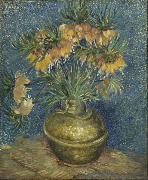 Crown Imperial Painting - Imperial Fritillaries In A Copper Vase 1887 by Vincent Van Gogh