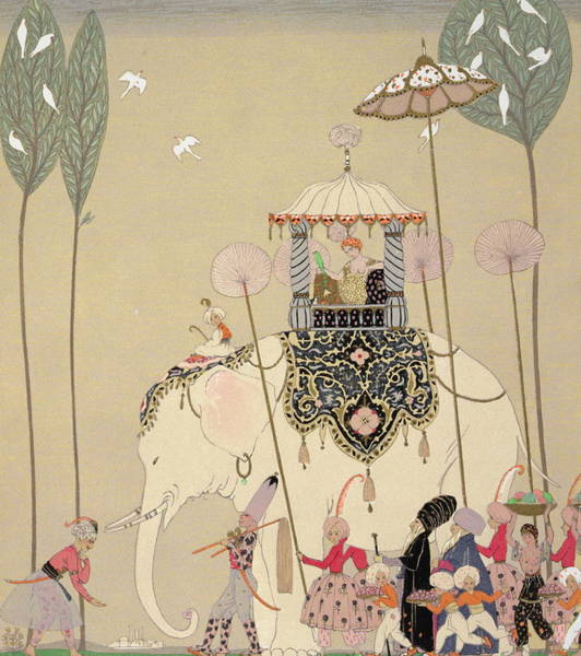 Seamless Painting - Imperial Procession by Georges Barbier