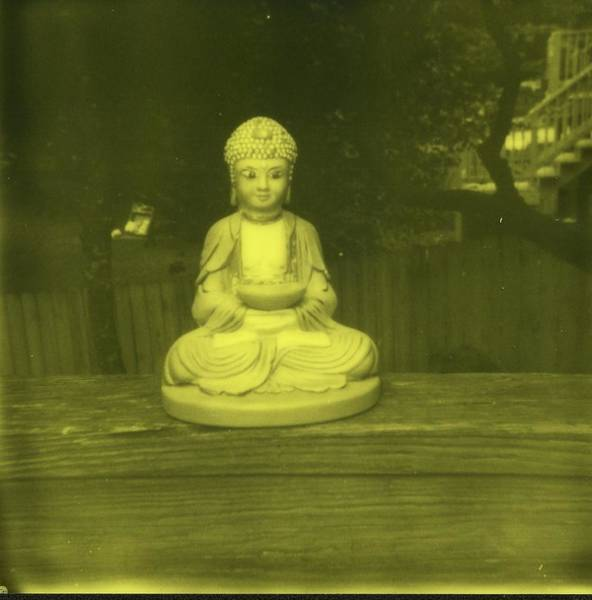 Wall Art - Photograph - Impossible Project Third Man Records Jack White Buddha Yellow Black by Jane Linders