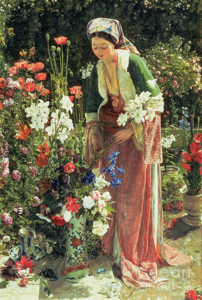 Wall Art - Painting - In The Bey's Garden by John Frederick Lewis