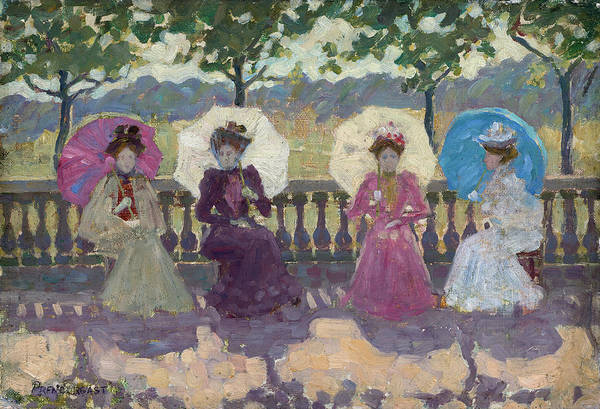 Painting - In The Park, Paris by Maurice Brazil Prendergast