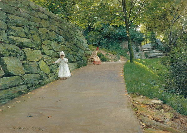 Wall Art - Painting - In The Park by William Merritt Chase