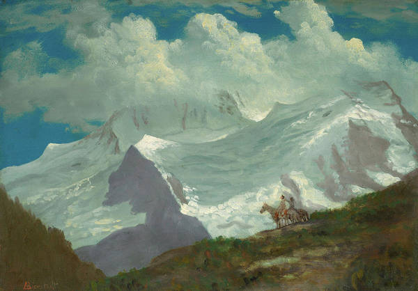 Dome Painting - In The Rockies by Albert Bierstadt