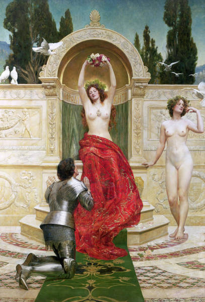 Folklore Wall Art - Painting - In The Venusburg by John Collier