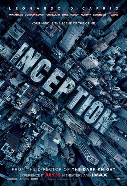 Wall Art - Digital Art - Inception Movie by Geek N Rock