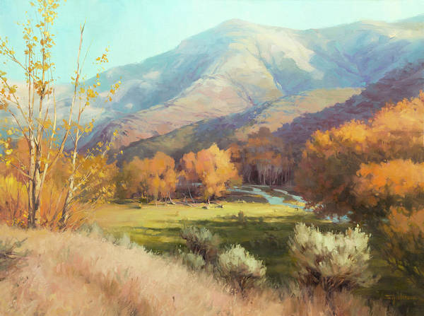 Poplar Painting - Indian Summer by Steve Henderson