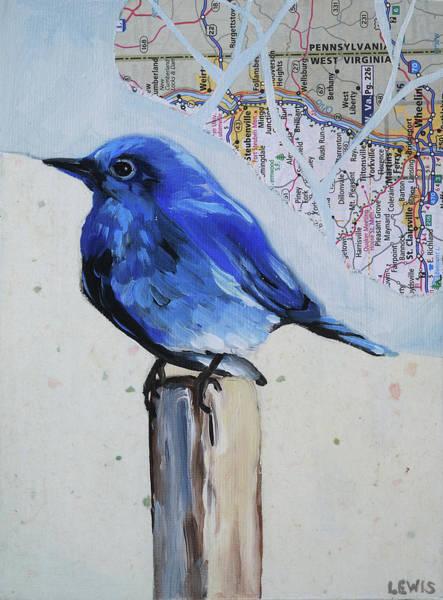 Blue Bird Art Print by Anne Lewis