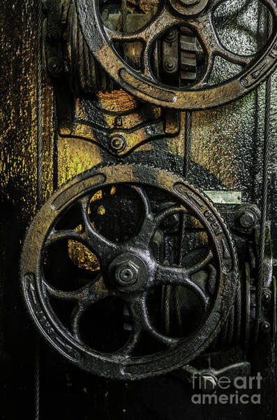 Neglected Wall Art - Photograph - Industrial Wheels by Carlos Caetano