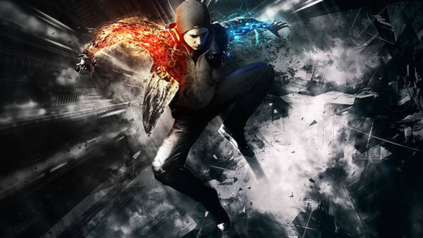 Sports Digital Art - inFAMOUS Second Son by Super Lovely