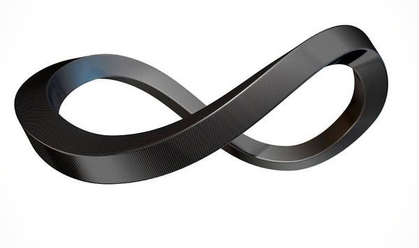 Carbon Wall Art - Digital Art - Infinity Symbol Carbon Fibre by Allan Swart