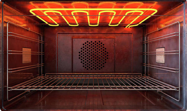Warmth Digital Art - Inside The Oven Front by Allan Swart