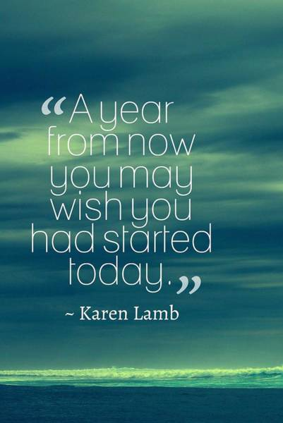 Painting - Inspirational Timeless Quotes - Karen Lamb by Adam Asar