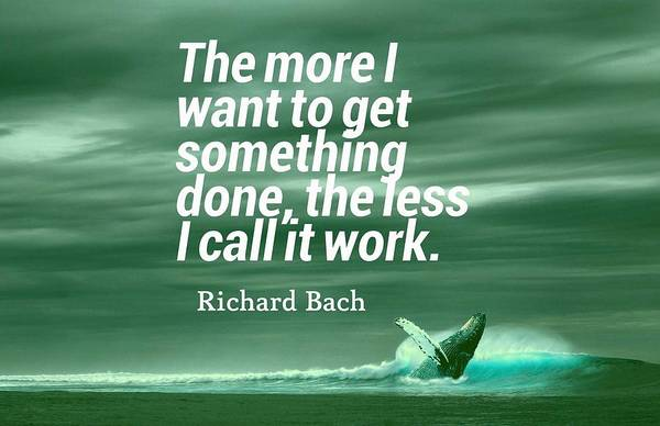 Painting - Inspirational Timeless Quotes - Richard Bach by Adam Asar
