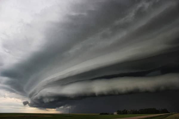 Photograph - Intense Shelf Cloud by Ryan Crouse