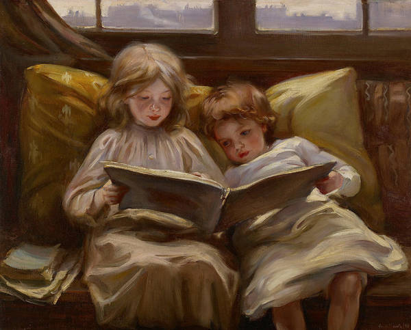 Painting - Interesting Story by Laura Muntz Lyall