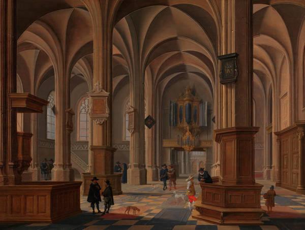 Archway Painting - Interior Of St Cunerakerk, Rhenen by Bartholomeus van Bassen
