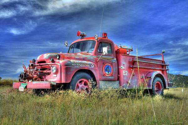 Photograph - International Fire Truck 2 by Tony Baca