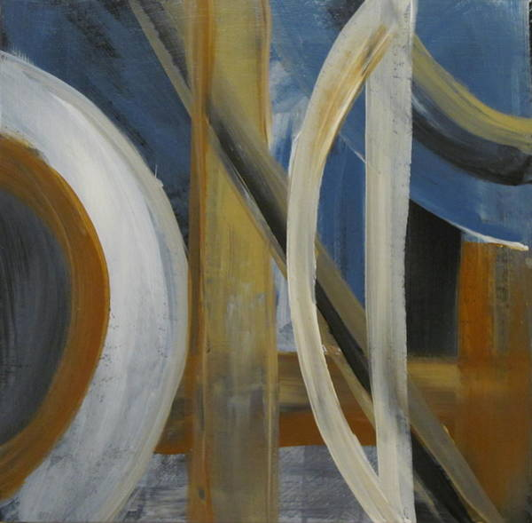 Painting - Intersection In Blue 1 by Anita Burgermeister