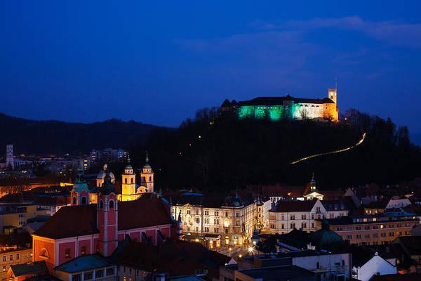 Ljubljana Photograph - Irish Ljubljana Castle by Ian Middleton