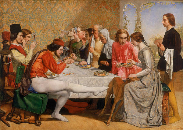 Pre-raphaelite Brotherhood Painting - Isabella by John Everett Millais
