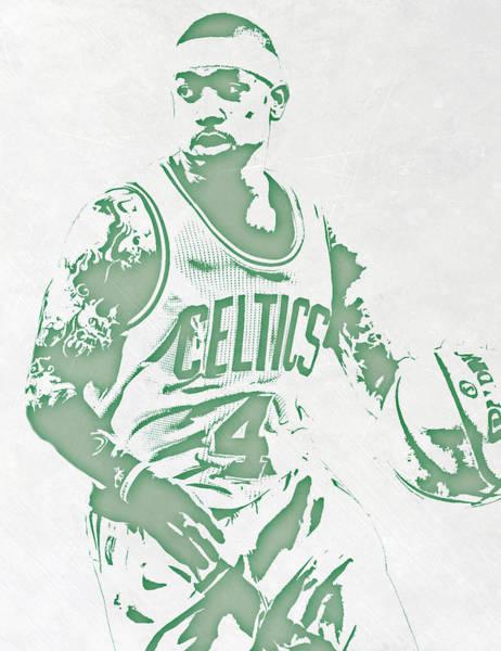 Celtic Mixed Media - Isaiah Thomas Boston Celtics Pixel Art by Joe Hamilton