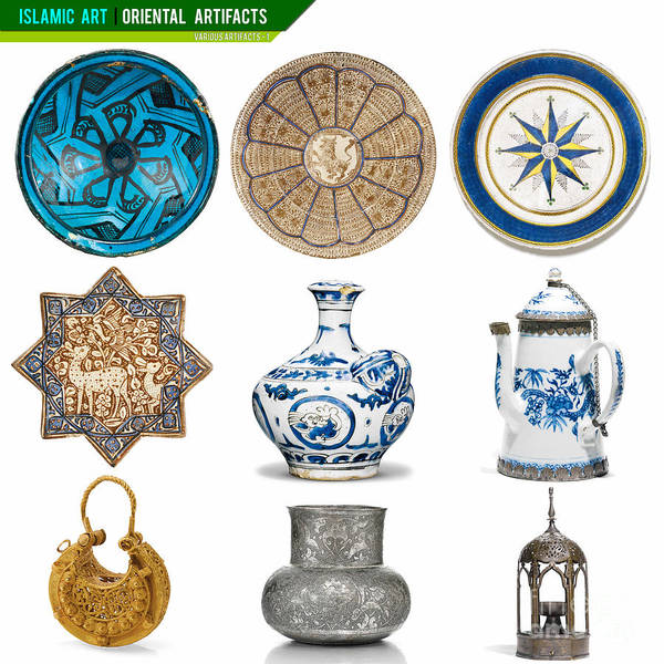 Artifact Painting - Islamic Art Islamic Artifacts - Various Artifacts  by Celestial Images