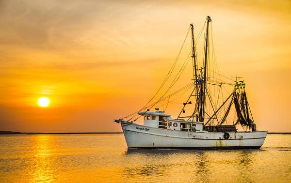 Wall Art - Photograph - Island Girl Shrimp Boat by  Island Sunrise and Sunsets Pieter Jordaan