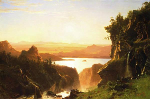 Wind River Range Wall Art - Painting - Island Lake, Wind River Range, Wyoming by Albert Bierstadt
