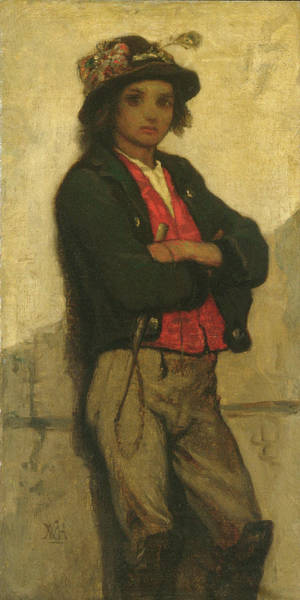Wall Art - Painting - Italian Boy by William Morris Hunt
