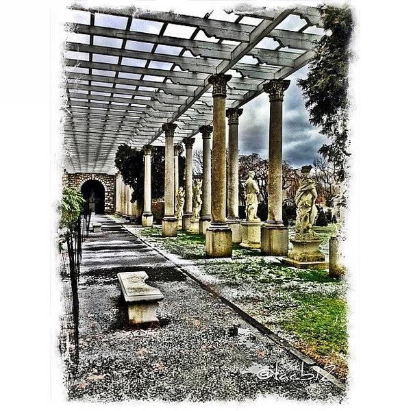 Ancient Photograph - Italian Garden At Delbarton School by Luis Alberto