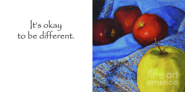 Painting - It's Okay To Be Different Title On Side by Joan Coffey