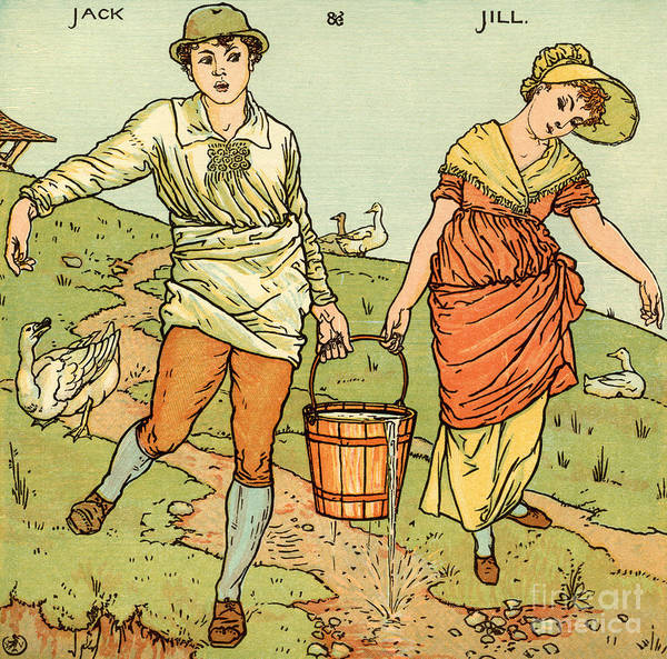 Wall Art - Painting - Jack And Jill by Walter Crane