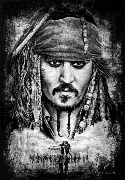 Wall Art - Drawing - Jack Sparrow by Andrew Read