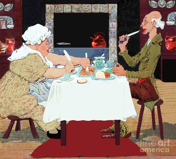 Painting - Vintage Jack Sprat Mother Goose Nursery Rhyme by Marian Cates