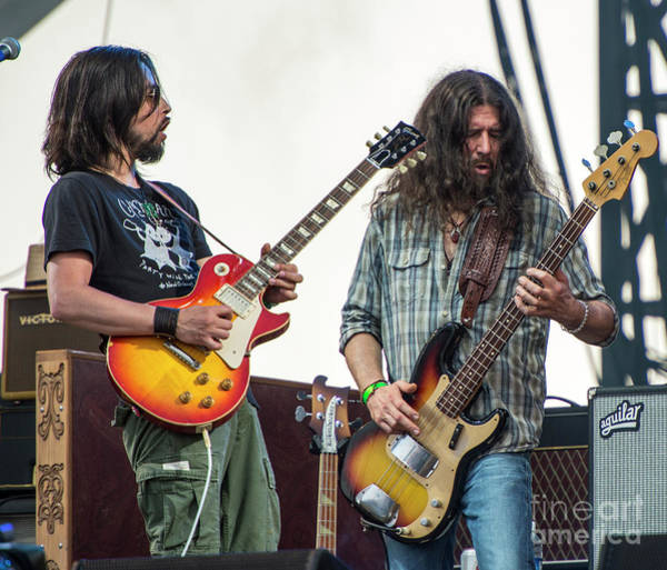 Black Crowes Wall Art - Photograph - Jackie Greene And Sven Pipien With The Black Crowes by David Oppenheimer