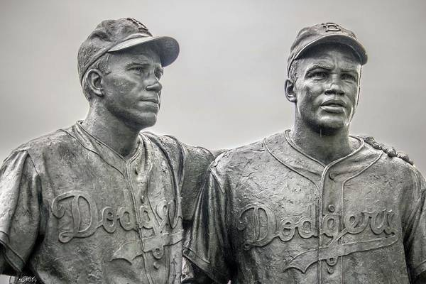 Jackie Robinson Wall Art - Photograph - Jackie Robinson And Pee Wee Reese by Mesha Thomas