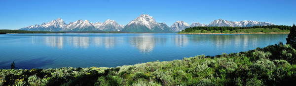 Photograph - Jackson Lake Teton Panorama by Greg Norrell
