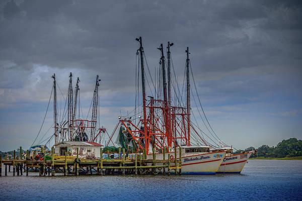 Photograph - Jacksonville Shrimp Boat Dock by Barry Jones