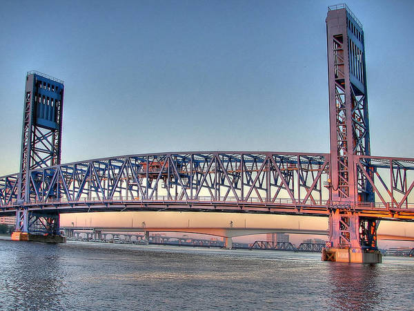 Photograph - Jacksonville's Blue Bridge by Farol Tomson