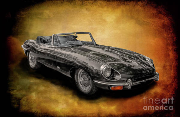 Jagged Photograph - Jaguar E-type by Adrian Evans