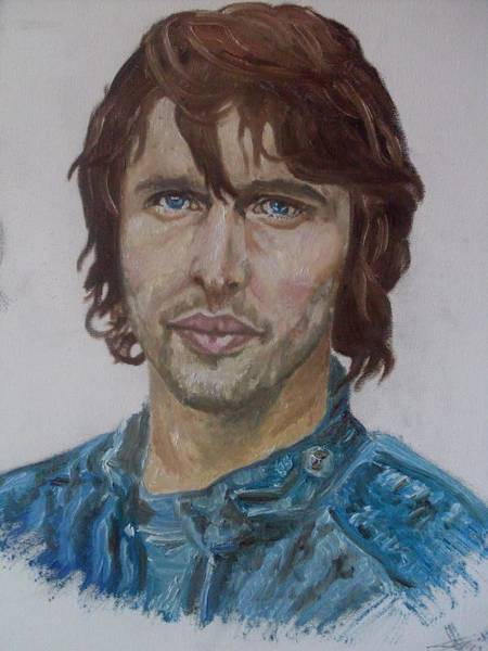 Wall Art - Painting - James Blunt Portrait by Agnes V