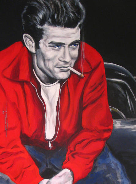 Rebel Painting - James Dean Put His Picture In A Picture Show by Eric Dee