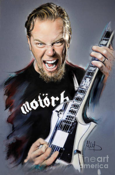 Thrash Metal Wall Art - Painting - James Hetfield by Melanie D