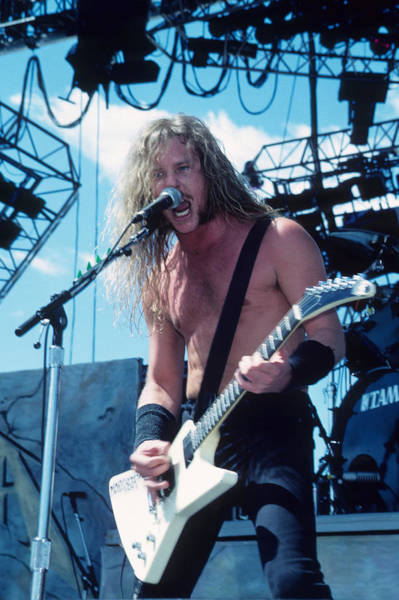 Photograph - James Hetfield Of Metallica by Rich Fuscia