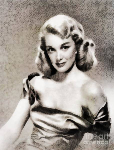 Sterling Silver Wall Art - Painting - Jan Sterling, Vintage Actress by John Springfield