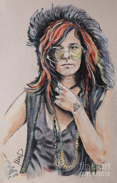 Wall Art - Painting - Janis Joplin by Melanie D