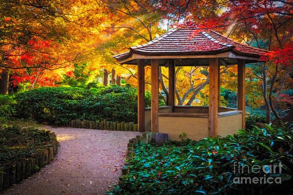 Photograph - Japanese Gazebo by Inge Johnsson