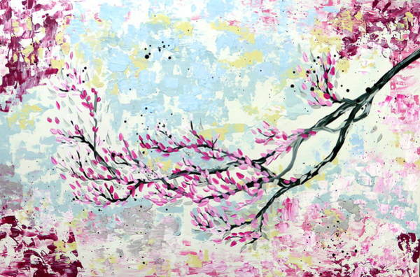 Blob Painting - Japanese Tree by Cathy Jacobs