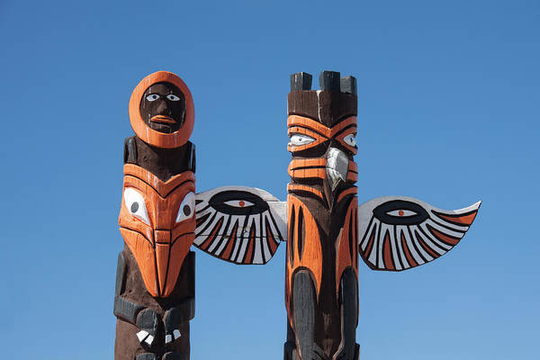 Photograph - Jasper Totem Poles by Arterra Picture Library
